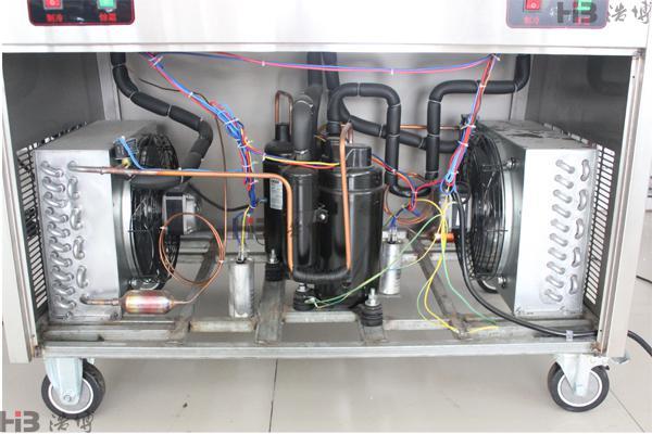 (一)双压长锅炒酸奶机内部结构图片